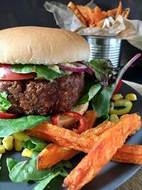 Pflanzliche Burger-Patties